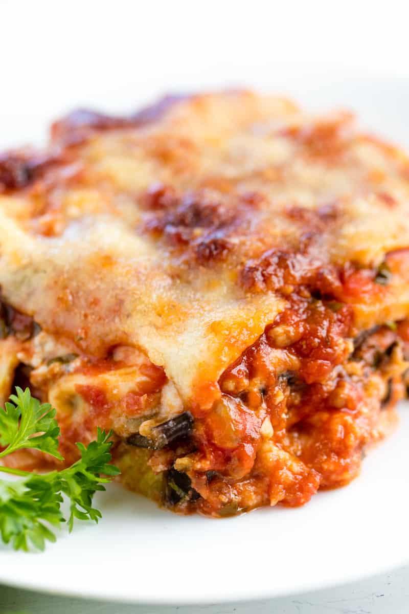 Eggplant Lasagna Healthy  Classic Eggplant Lasagna