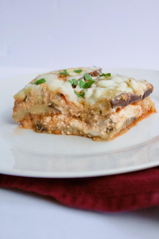 Eggplant Lasagna Healthy  Low Carb Eggplant Parm Lasagna Sinful Nutrition