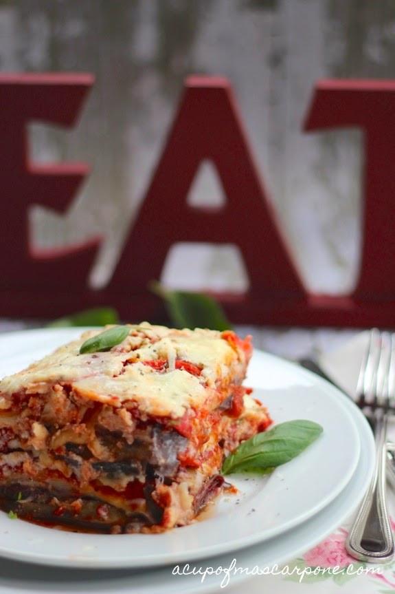 Eggplant Lasagna Healthy  a cup of mascarpone eggplant lasagna