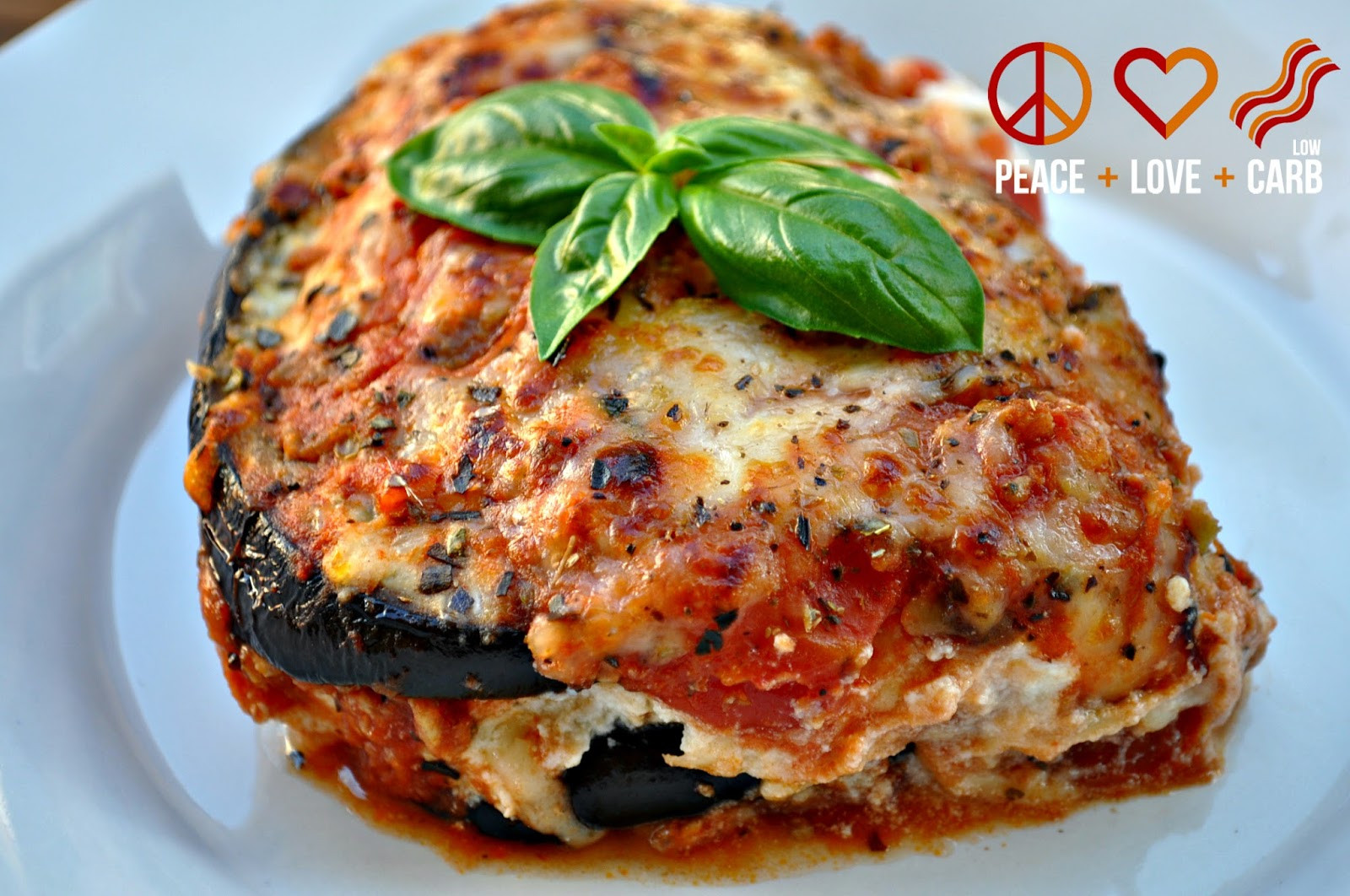 Eggplant Lasagna Healthy  Eggplant Lasagna with Meat Sauce Low Carb Lasagna