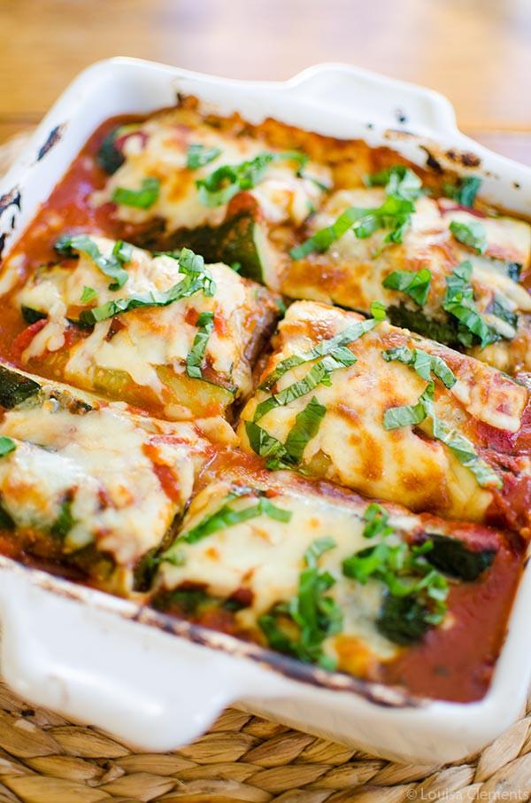Eggplant Lasagna Healthy  Ve arian Zucchini and Eggplant Lasagna — Living Lou