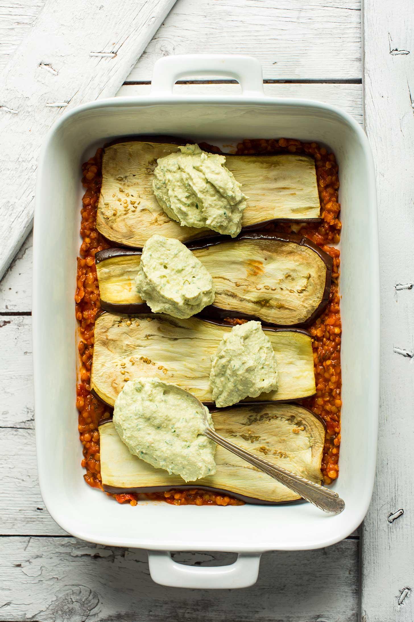 Eggplant Lasagna Healthy  Lentil Eggplant Lasagna