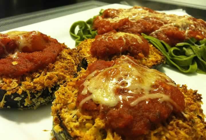 Eggplant Parmesan Healthy  Delicious Eggplant Parmesan Minus 470 Calories