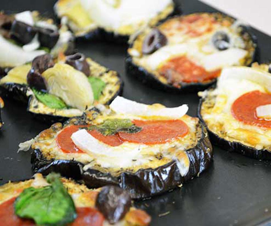 Eggplant Recipes Healthy  Healthy eggplant recipe Mini eggplant pizzas