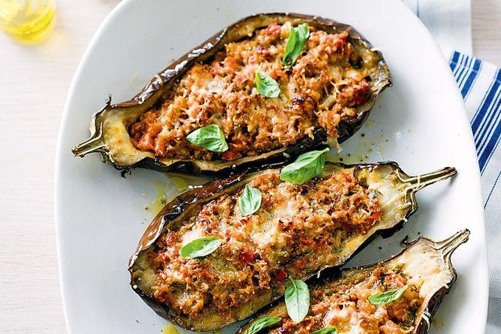 Eggplant Recipes Healthy  Bolognese stuffed eggplants