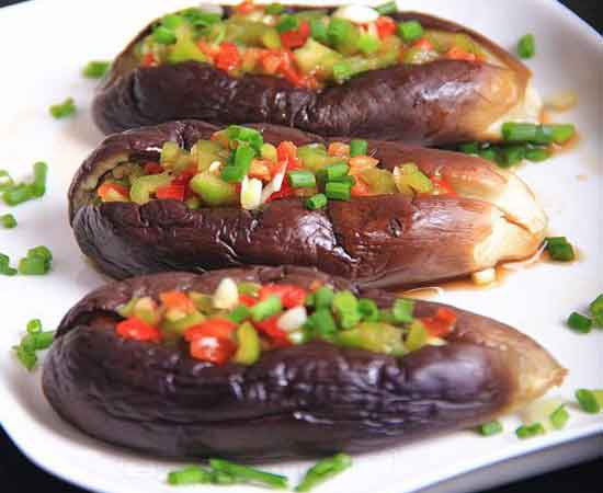 Eggplant Recipes Healthy  Healthy pepper mix stuffed eggplant recipe 2beingfit