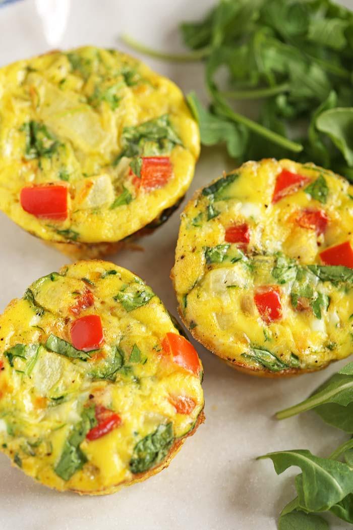 Eggs For Breakfast Healthy  Healthy Veggie Egg Muffins Eat Yourself Skinny