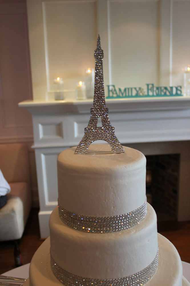Eiffel Tower Wedding Cakes  Paris Eiffel Tower Cake Topper Fully covered with