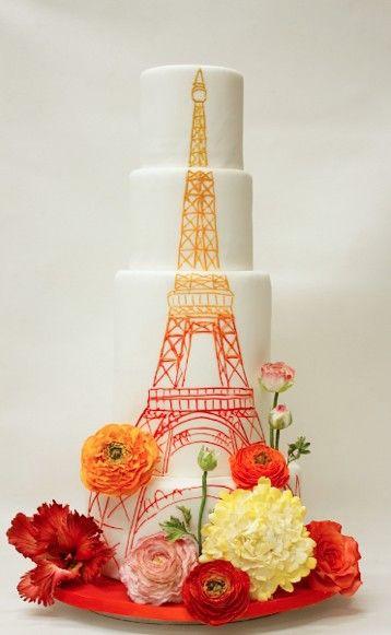 Eiffel Tower Wedding Cakes  Eiffel Tower Wedding Cake Fab Mood