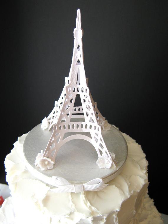 Eiffel Tower Wedding Cakes  Eiffel Tower Wedding Cake Topper