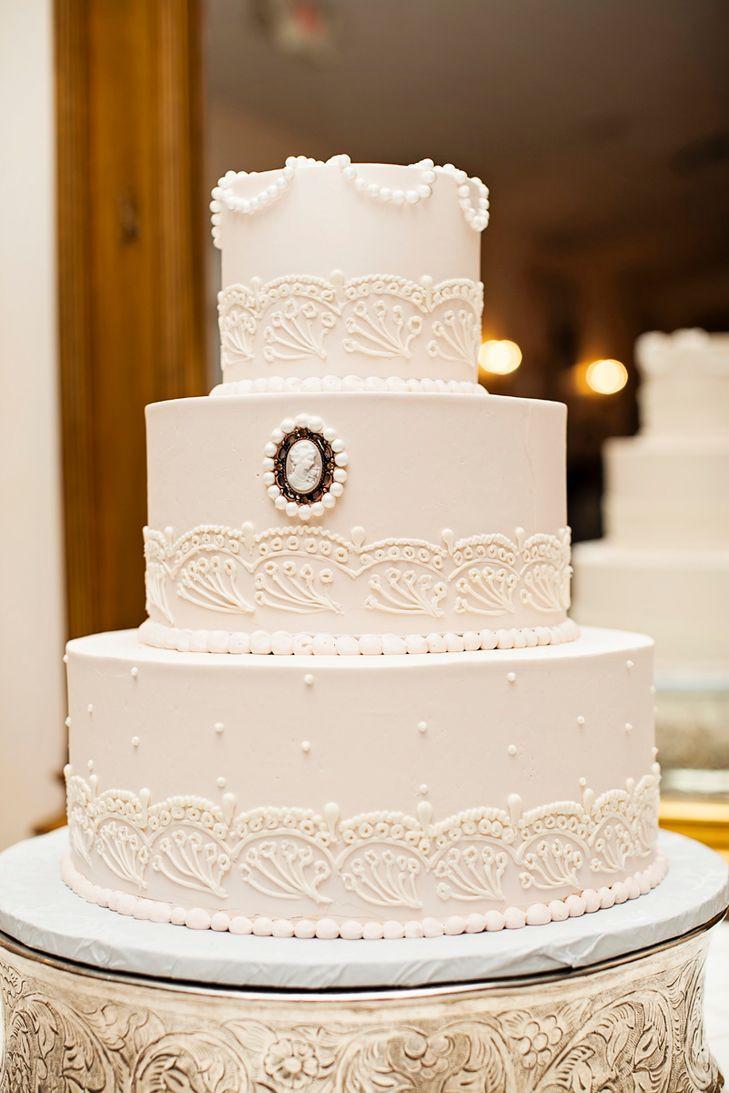 Elegant Buttercream Wedding Cakes  Elegant Buttercream and Cameo Wedding Cake