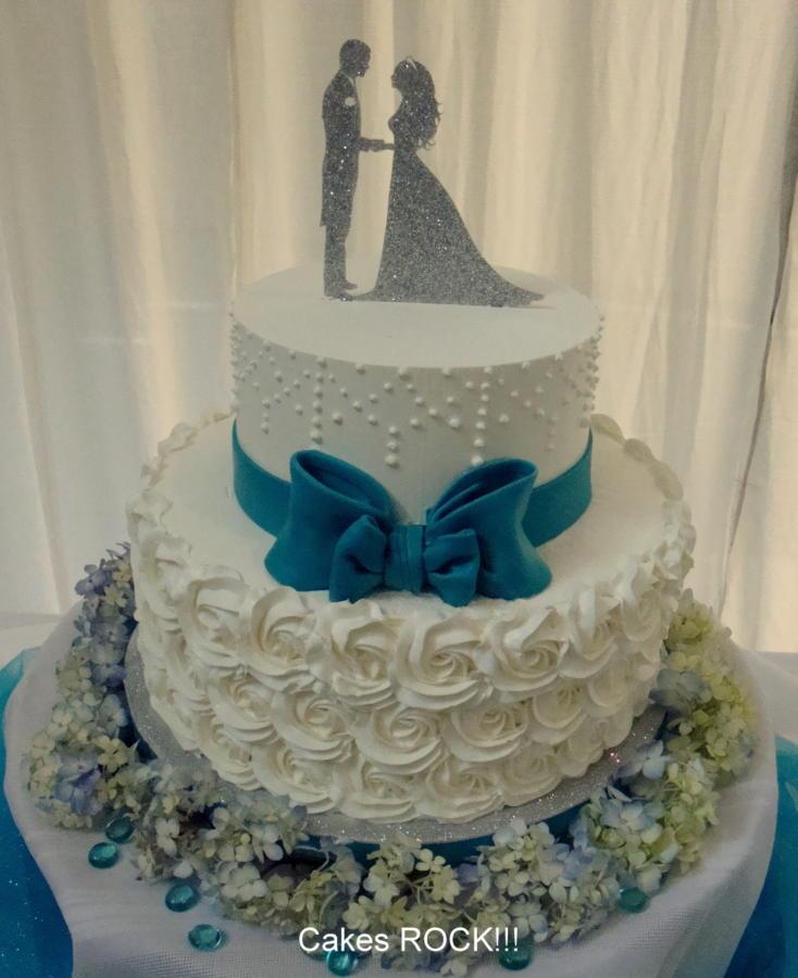 Elegant Buttercream Wedding Cakes  Simply Elegant Buttercream Wedding Cake Cake by Cakes