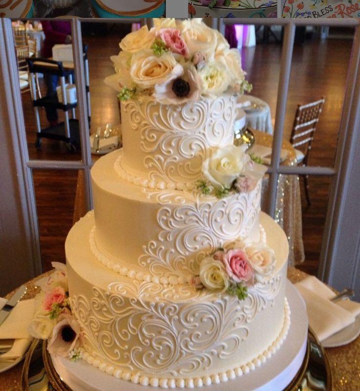 Elegant Buttercream Wedding Cakes  Best 25 Buttercream Wedding Cake ideas on Pinterest