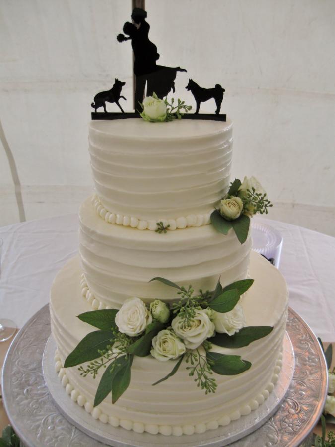 Elegant Buttercream Wedding Cakes  Elegant white Buttercream wedding cake cake by Nancy s
