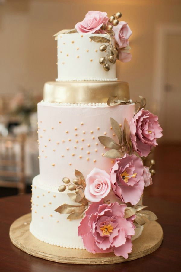 Elegant Wedding Cakes  28 Inspirational Pink Wedding Cake Ideas
