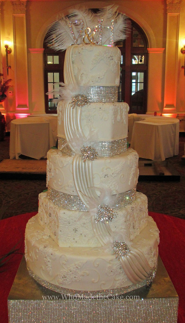 Elegant Wedding Cakes With Bling  230 best Wedding Cakes by Who Made The Cake images on