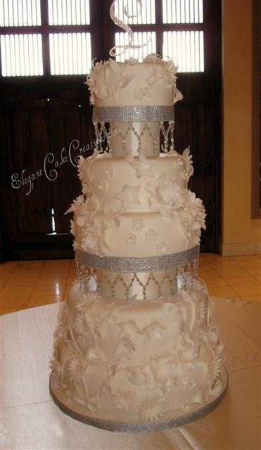 Elegant Wedding Cakes With Bling  17 Best images about Wedding Cake Bling on Pinterest