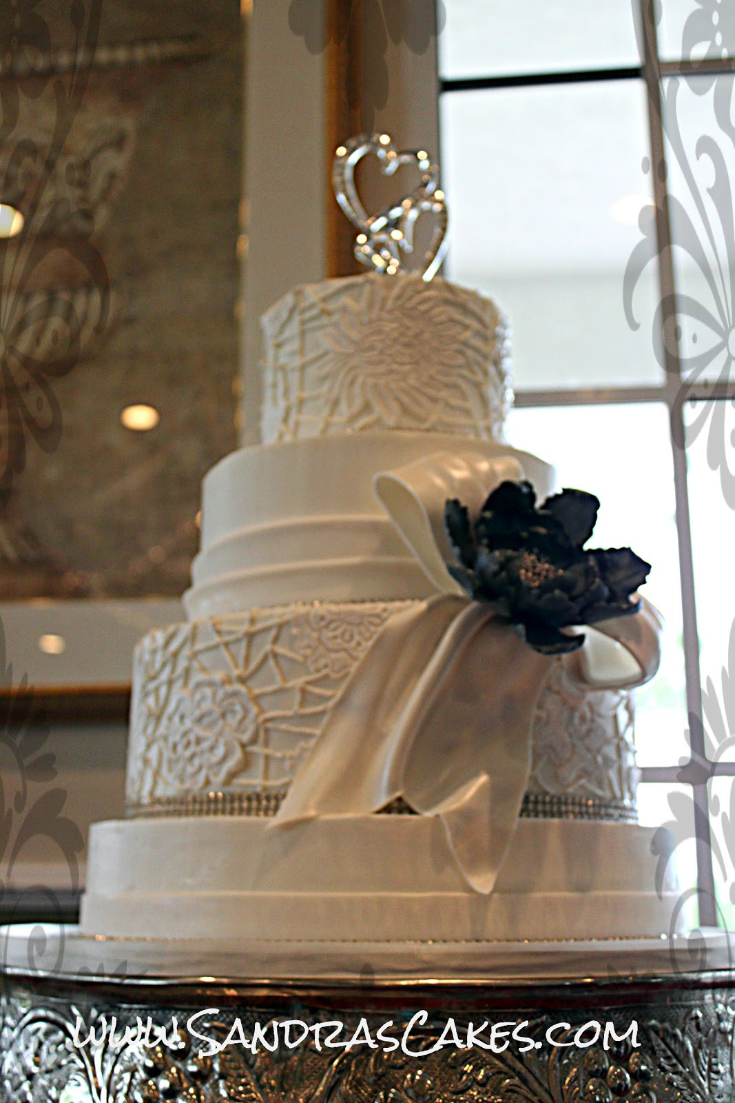 Elegant Wedding Cakes With Bling  Birthday Cakes Elegant and Sophisticated Wedding Cake