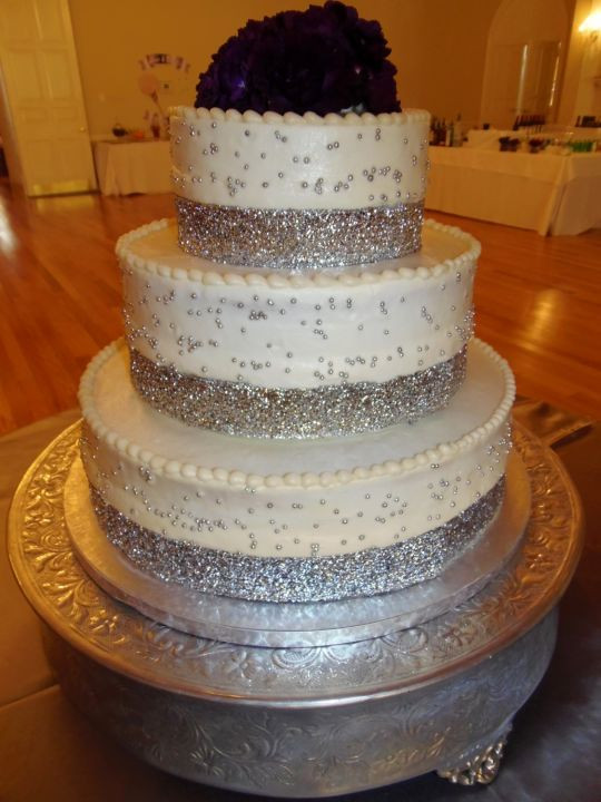 Elegant Wedding Cakes With Bling  Elegant Bling wedding cake cake by Nancy s Fancy s Cakes