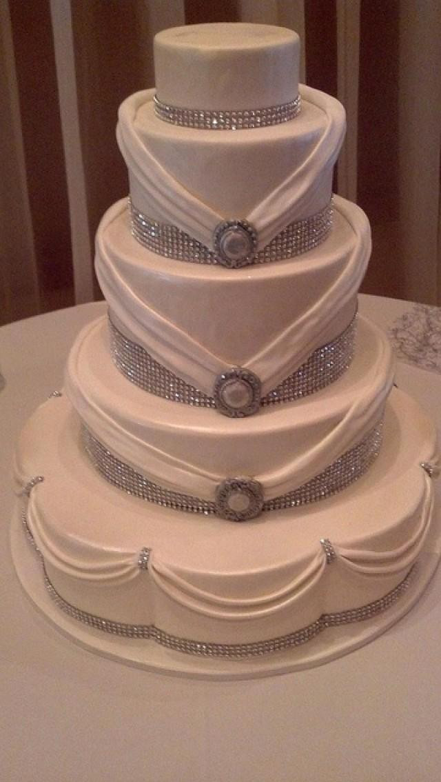 Elegant Wedding Cakes With Bling  Cake Rhinestones Weddbook