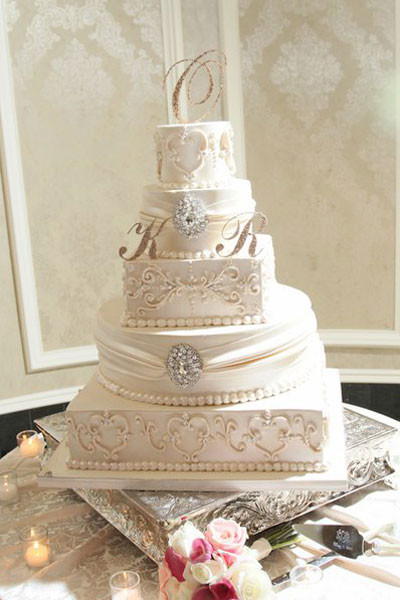 Elegant Wedding Cakes With Bling  Top 20 wedding cake idea trends and designs