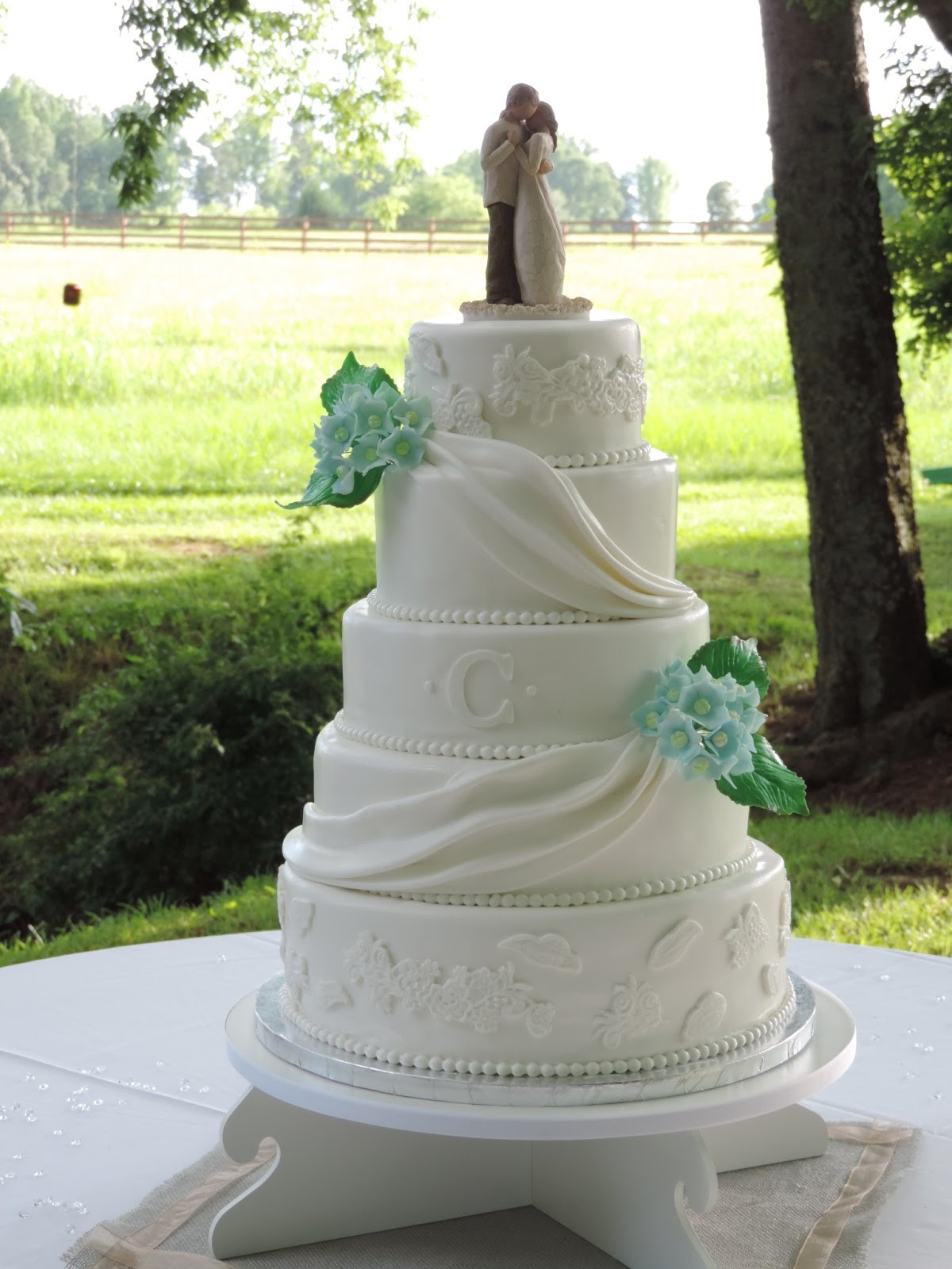 Elegant White Wedding Cakes  Cakes by Becky Elegant White Wedding Cake