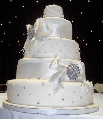 Elegant White Wedding Cakes  elegant white wedding cake