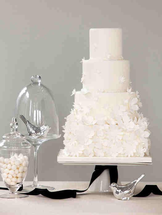 Elegant White Wedding Cakes  30 White Wedding Cake Designs That Will Leave You Wanting e