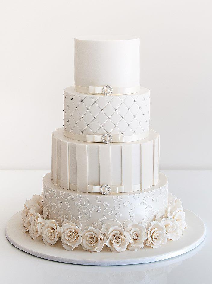 Elegant White Wedding Cakes  30 Delicate White Wedding Cakes
