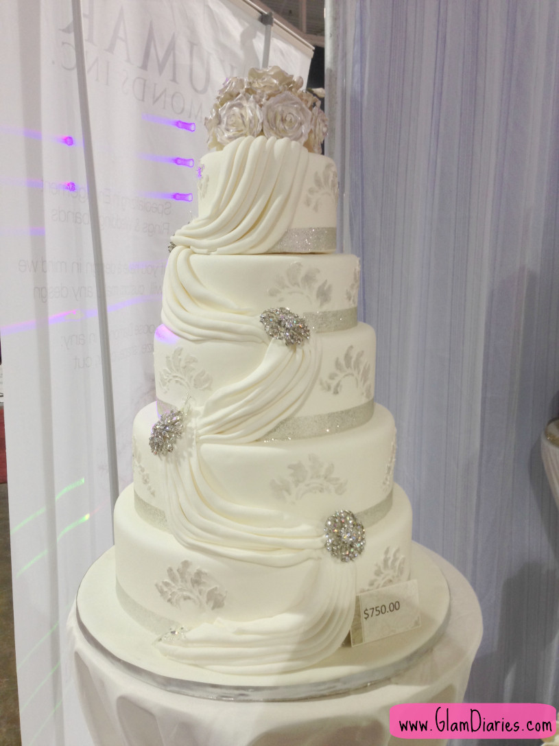Elegant White Wedding Cakes  Suhaag Indian Wedding Exhibition Show 2013 and