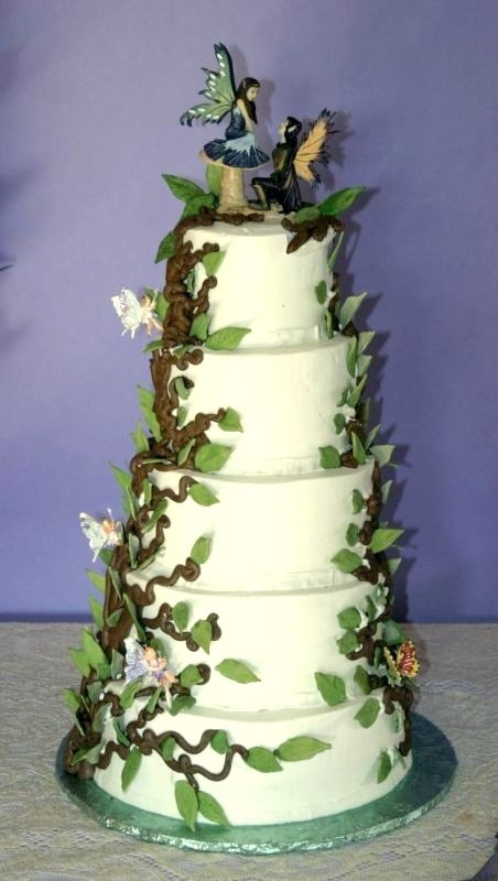 Enchanted Forest Wedding Cakes  258 best images about Enchanted Fairy Quinceanera Ideas on