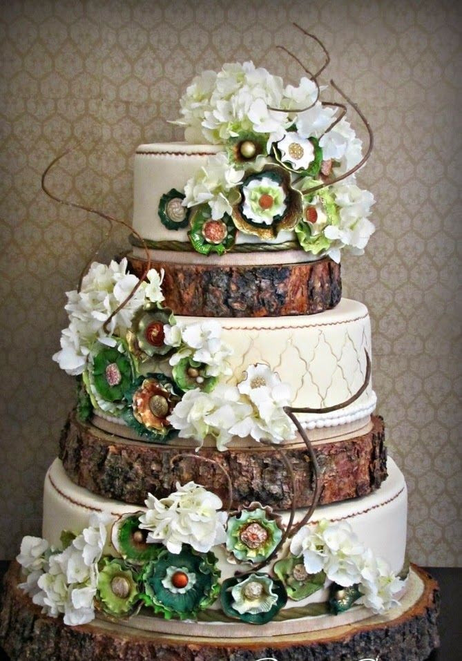 Enchanted Forest Wedding Cakes  WEDDING & CELEBRATION THEMES & SCHEMES Country
