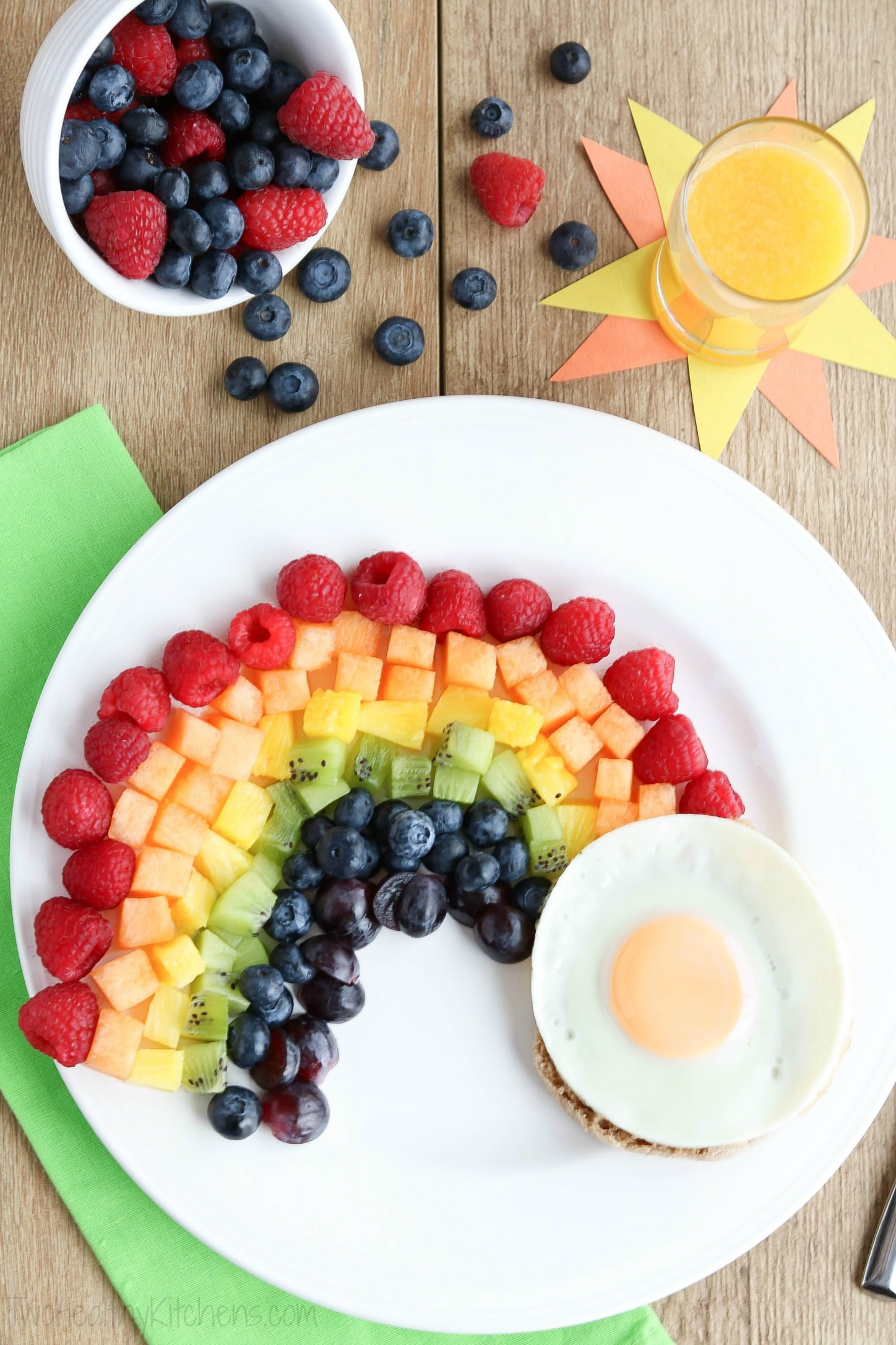 Examples Of Healthy Breakfast  Fruit Rainbow with a Pot of Gold Fun Breakfast Idea for