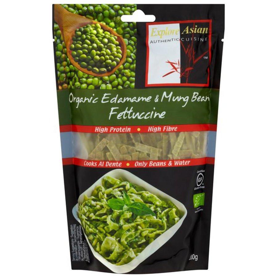 Explore Asian Organic Edamame Spaghetti  Explore Asian Edamame & Organic Mung Bean Fettuccine Pasta