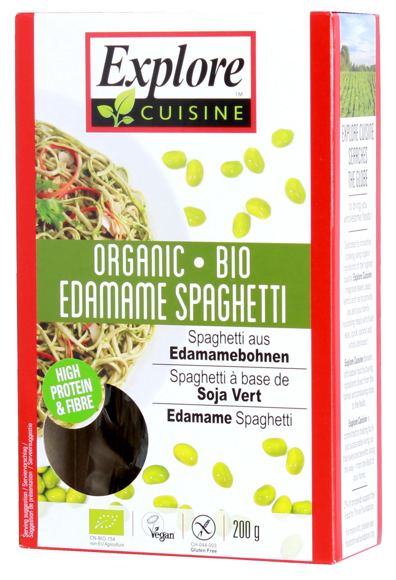 Explore Asian Organic Edamame Spaghetti  Explore Asian Edamame Spaghetti Nudeln Bio 200g