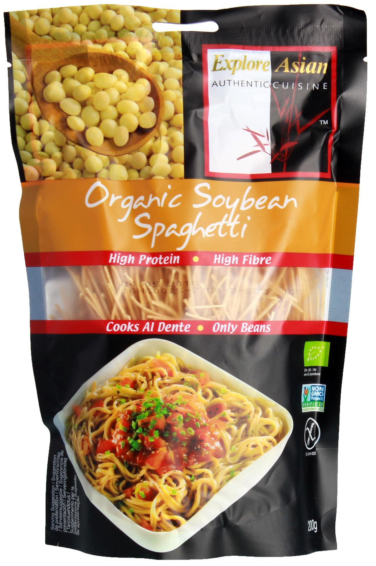 Explore Asian Organic Edamame Spaghetti  Explore Asian Soybean Spaghetti Nudeln Bio 200g