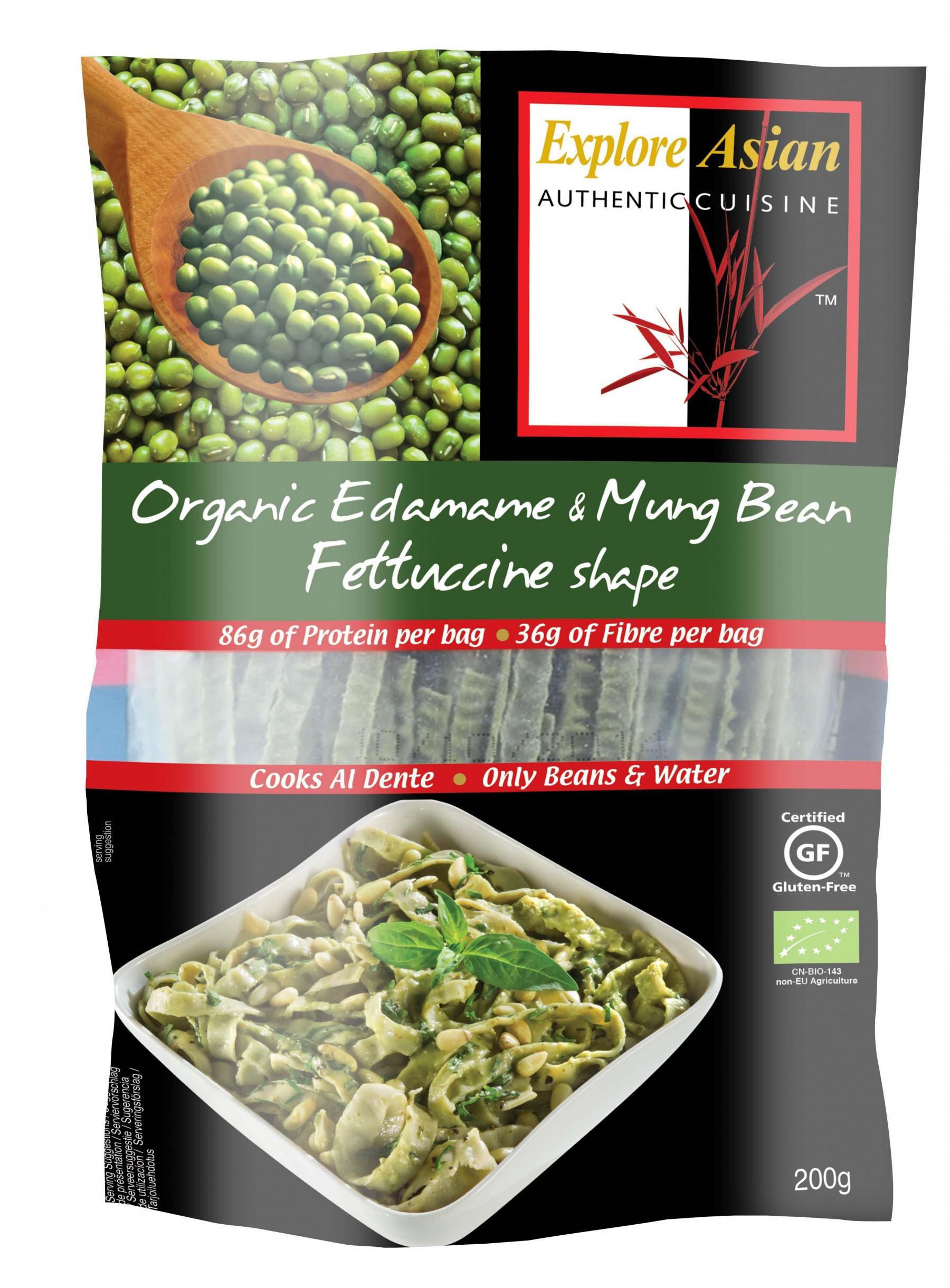 Explore Asian Organic Edamame Spaghetti  Explore Asian Organic Edamame & Mung Bean Fettuccine 200g