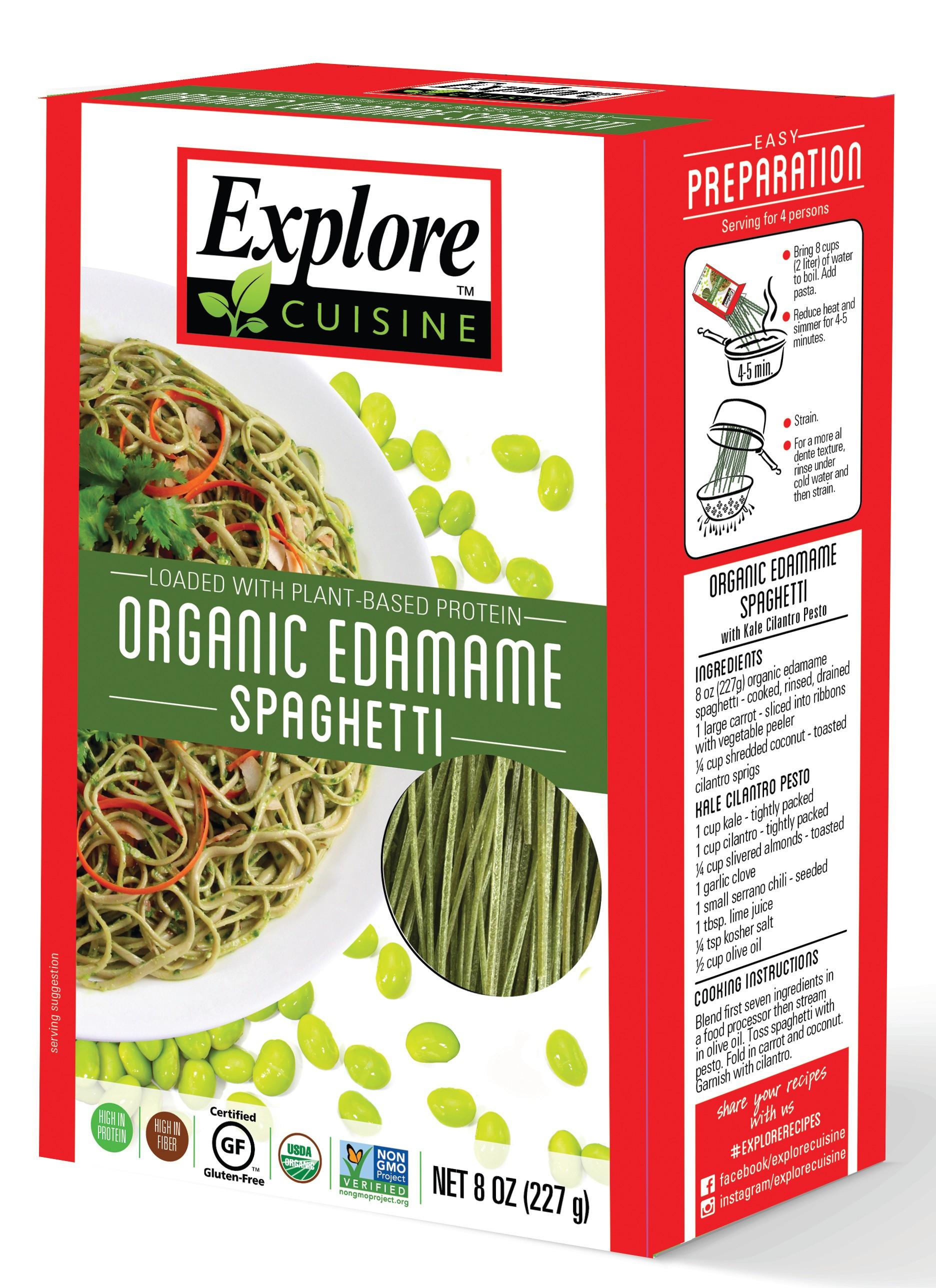Explore Cuisine Organic Edamame Spaghetti  ORGANIC Edamame spaghetti BEAN PASTAS PRODUCTS