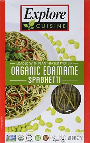Explore Cuisine Organic Edamame Spaghetti  Explore Asia Organic Edamame Spaghetti 8 Ounce Import