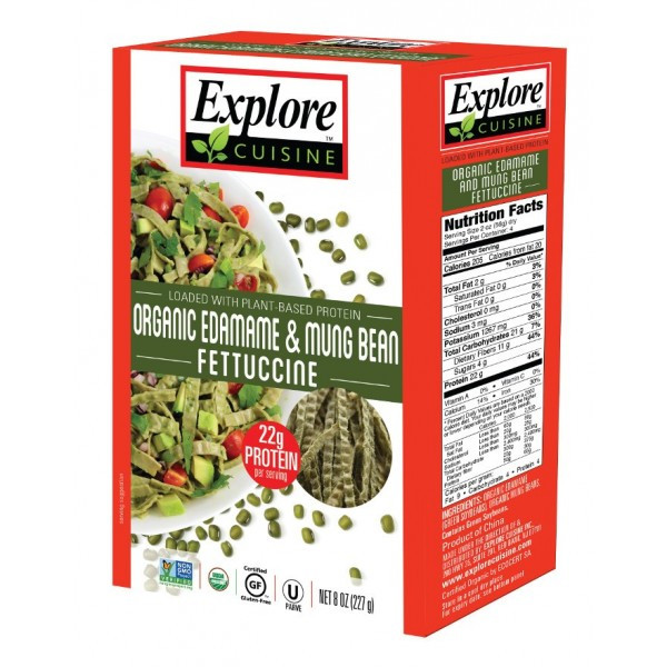 Explore Cuisine Organic Edamame Spaghetti  Explore Cuisine Organic Edamame & Mung Bean FETTUCCINE