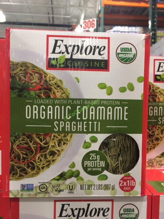 Explore Cuisine Organic Edamame Spaghetti  Explore Cuisine Organic Edamame Spaghetti 2 Pound Box