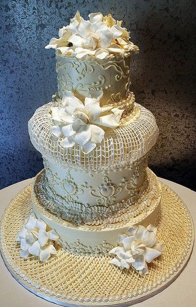 Extreme Wedding Cakes  Wedding cake decorated in an extreme Victorian style