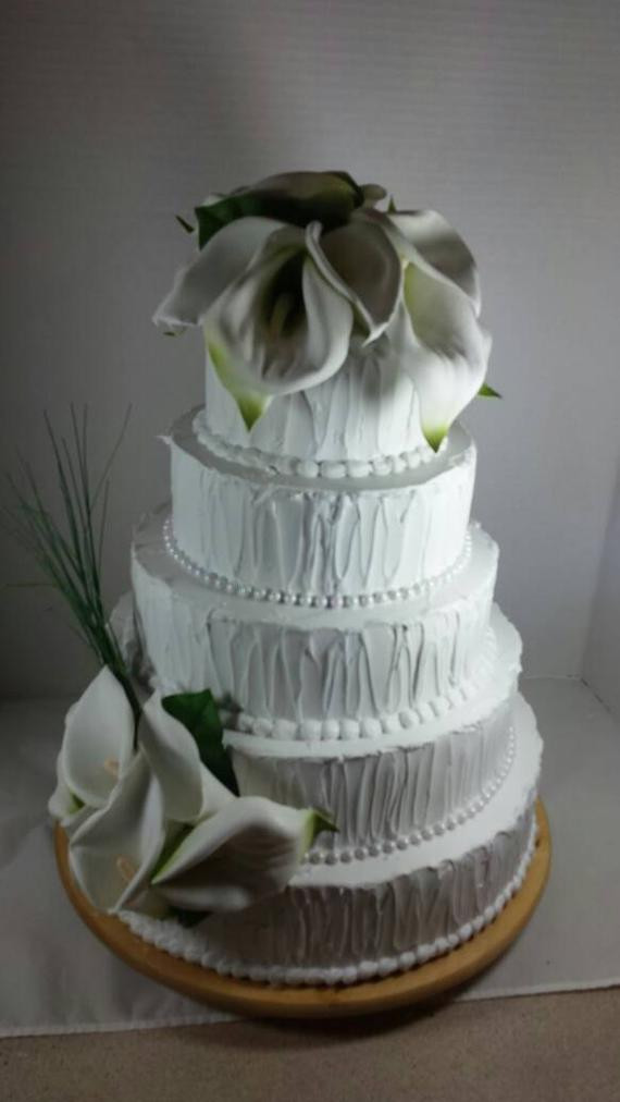 Fake Wedding Cakes For Display  Calla Lilly Wedding Cake Fake Prop Bakery Display