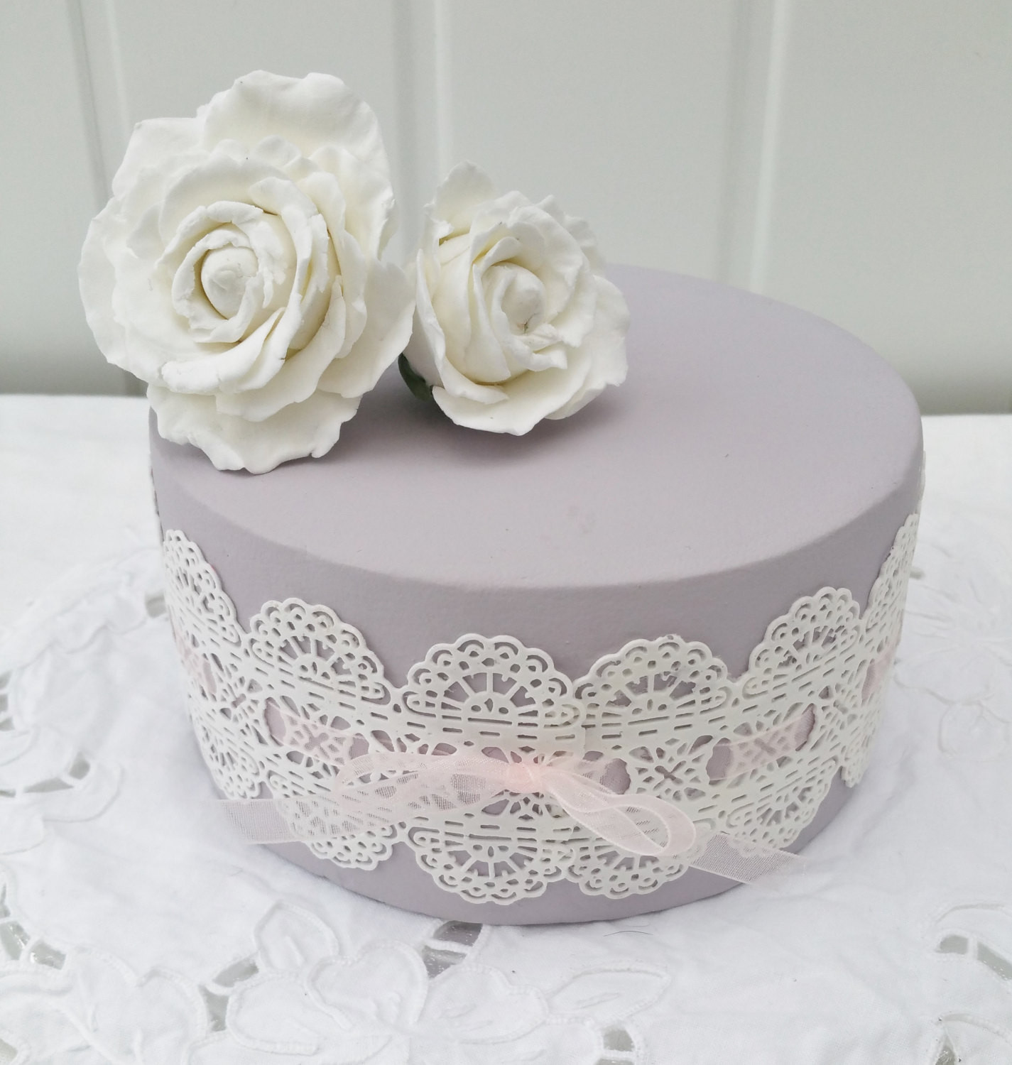 Fake Wedding Cakes For Display  Lace cake fake cake mauve cake display cake