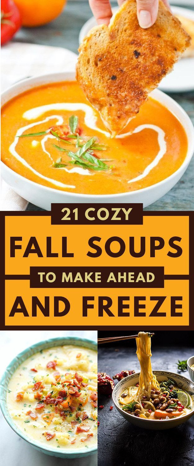 Fall Soups Healthy  Here Are 21 Healthy Fall Soups To Stock Your Freezer
