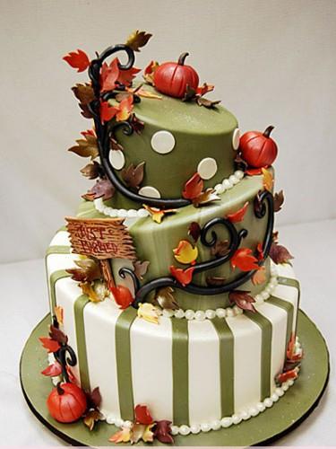Fall Themed Wedding Cakes  Autumn Wedding Cakes