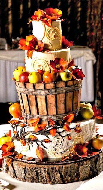 Fall Themed Wedding Cakes  25 Apple Inspired Fall Wedding Ideas