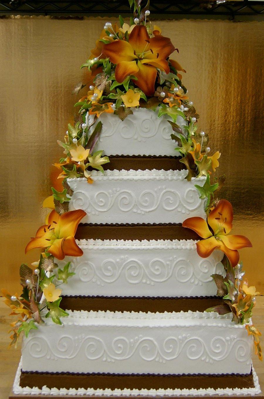 Fall Themed Wedding Cakes  Fall themed wedding cake by The EvIl Plankton on DeviantArt