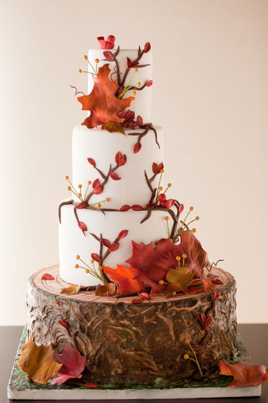 Fall Themed Wedding Cakes  Bride In Dream Autumn Theme Wedding Ideals
