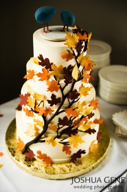 Fall Themed Wedding Cakes  Fall Themed Cakes
